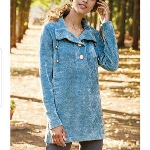 Soft Surroundings blue St Germain pullover